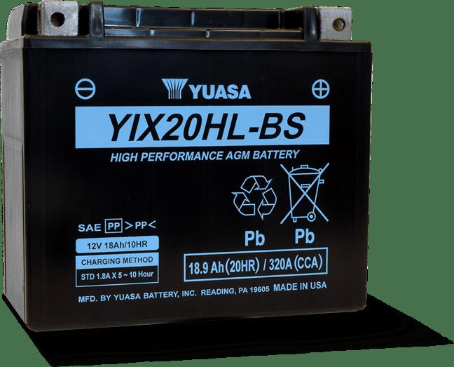 Yuasa YIX20HL-BS AGM Battery