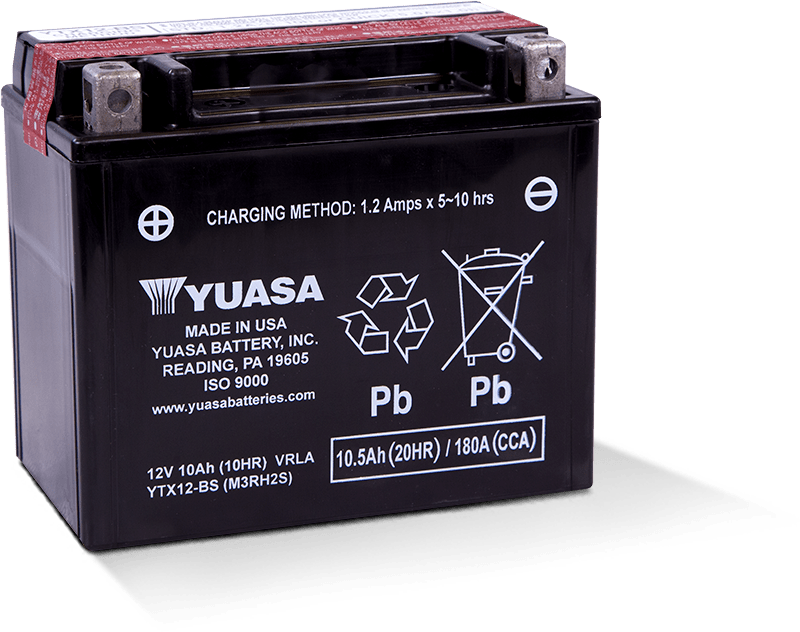 bd9f42a3 YTX12-BS Battery. Manufactured in USA