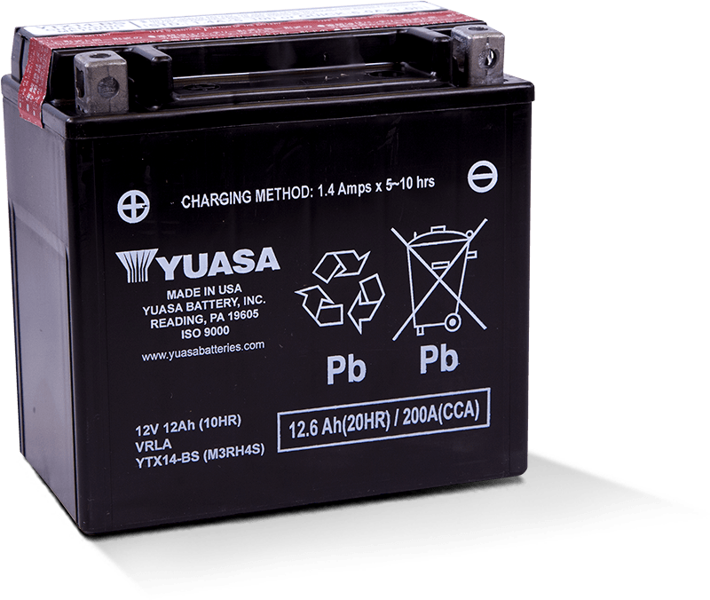 457c378a YTX14-BS Battery. Manufactured in USA