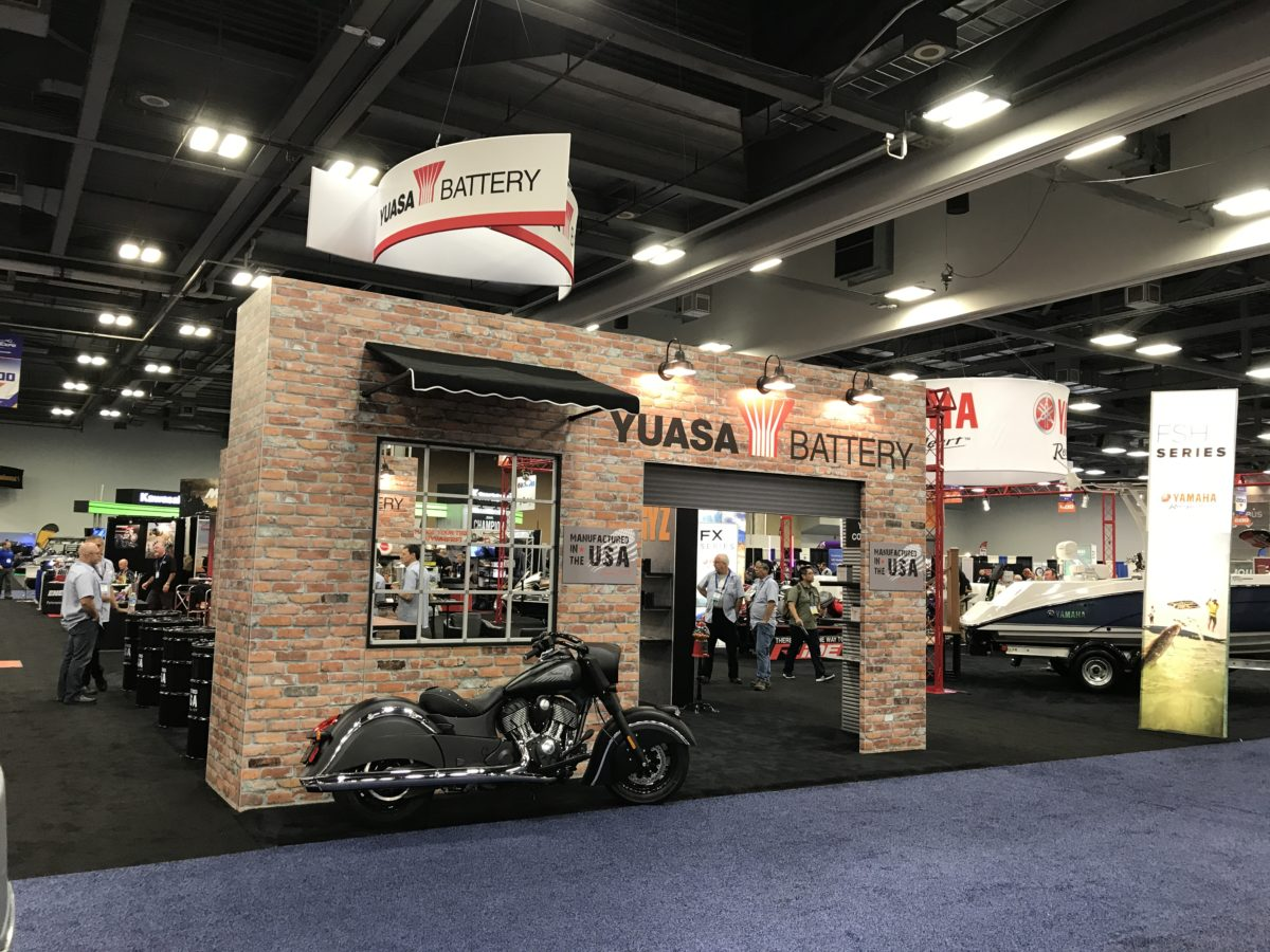 Yuasa battery at trade show